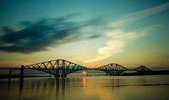 Sleeping Giant (Pureo) Tags: bridge sunset sky seascape water canon scotland iron bridges forthrailbridge sigma1020 canon550d quennsferry