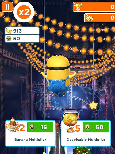 Despicable Me: Minion Rush Impromptu purchases: screenshots, UI