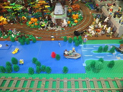 MOAH Winter Show 2014-2015 (145) (Last pass) (origamiguy1971) Tags: layout town lego mosaic spiderman trains superman batman palo alto ghostbusters moc walle moah baylug esseltine origamiguy origamiguy1971