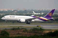 Thai Airways | Boeing 787-8 | HS-TQC | Bangkok Suvarnabhumi (Dennis HKG) Tags: plane canon airplane airport bangkok aircraft 1d thai boeing bkk tha tg thaiairways planespotting 787 staralliance 100400 7878 boeing787 suvarnabhumi vtbs boeing7878 hstqc