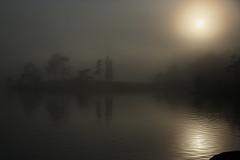 Valaam (misus1504 (Elena)) Tags: sunset sky mist lake fog canon landscape eos dawn haze russia mark iii 5d karelia breaking valaam ladoga