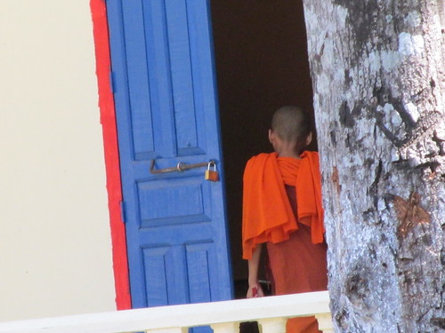 Entrée d'un temple, Cambodge