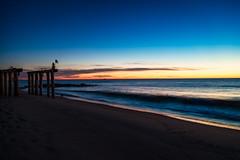 Ocean Grove Sunrise (artkeh) Tags: ocean sky beach sunrise coast pier shore oceangrove oceangrovenj