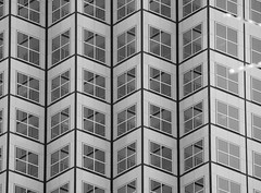 Explored: Southeast Financial Center (Saaliahc) Tags: city bw usa building geometric window architecture skyscraper blackwhite florida miami patterns repetition architektur sw muster hochhaus explored omdm5