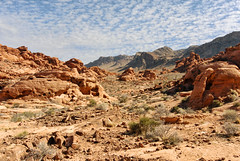 valley of fire (rappensuncle) Tags: red sky terrain mountains valleyoffire nature rock clouds nationalpark sandstone desert hiking nevada nobody crosscountry lakemead remote rugged