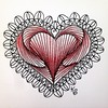 #zentangle 2015-045, my first #divachallenge tile (no. 204, a #valentangle). My friend also threw down the gauntlet for me to use paradox in a heart and this was the result. I used #prismacolorpencils for the coloring. (kurki15) Tags: square heart squareformat zia prismacolor paradox micron zenart micronpen zentangle zendoodle iphoneography instagramapp uploaded:by=instagram zentangleinspiredart tangleaday divachallenge valentangle 2015febzen 2015zenfeb zentangleaday divachallenge204
