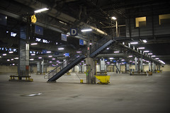 An empty East Garage--Shortly after PM Rush Pullout (metrotransitmn) Tags: minnesota publictransit publictransportation garage automotive transportation transit twincities mechanic metrotransit eastgarage metrotransitmn busmechanic