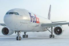 N683FE FedEx Express A300F4-605R in KCLE (GeorgeM757) Tags: snow weather airplane aircraft aviation airbus fedex airfreight fedexexpress a300f4605r alltypesoftransport georgem757