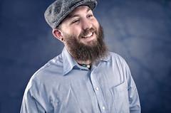 Brett (B Huntley) Tags: lighting blue portrait smile hat composite studio beard skin laugh retouching compositing