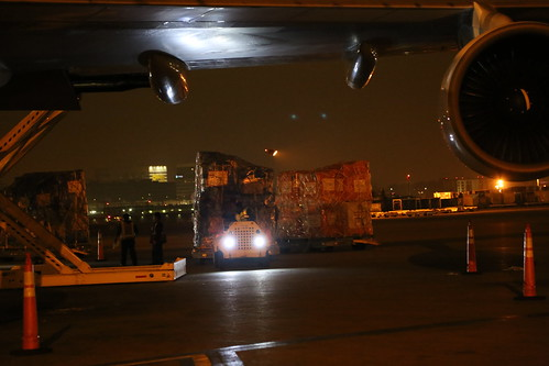 Ebola Facility Modules, Direct Relief, Airlift, LAX 130