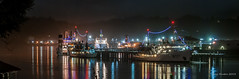 The NOAA fleet at Christmas, 2013 (kgsix) Tags: night oregon unitedstates christmaslights newport bayfront researchvessels