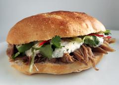 Turkish roll with lamb shoulder (FotoosVanRobin) Tags: sandwich lamb lambs shoulder broodje turksbrood lamsschouder