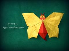 Butterfly - Fernando Gilgado (Thomas Krapf Origami) Tags: butterfly paper mariposa papier schmetterling gilgado fernandogilgado oirgami papierfalten