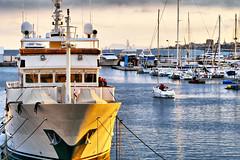 Sunset light (Fnikos) Tags: light sunset sea sky people sun skyline port boat waterfront outdoor vehicle serene