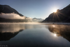 Morning mood on the lake (MC-80) Tags: mist mountain lake alps sunrise reflections austria see tirol sterreich nebel berge alpen sonnenaufgang tyrol plansee heiterwangersee nebelstimmung