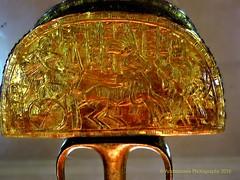Gilded Wooden Ostrich Hunt Fan (Amberinsea Photography) Tags: egypt cairo tutankhamen tutankhamun cairomuseum goldenstaff amberinseaphotography