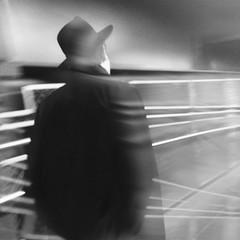 Hauser (ShelSerkin) Tags: street nyc newyorkcity portrait blackandwhite newyork subway candid streetphotography squareformat gothamist iphone mobilephotography iphoneography hipstamatic strangersintransit