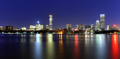 Boston skyline (Nitish_Bhardwaj) Tags: longexposure urban usa boston canon cityscape skyscrapers massachusetts unitedstatesofamerica bluehour