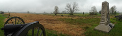 Gettysburg Out of the Chaos (SunnyDazzled) Tags: park panorama history monument weather spring day moody cloudy pennsylvania gettysburg national cannon historical battlefield memorials uscivilwar ninthmichiganmonument