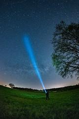 [254] Lighting the stars (waterman75) Tags: night germany bayern deutschland bavaria nikon all nacht sigma astro fisheye galaxy d750 flashlight 15mm galaxie taschenlampe milkyway eichsttt milchstrasse nightimage kinding