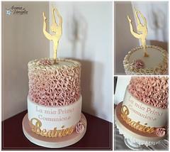 topper beatrice 2 (aroma di vaniglia) Tags: torta comunione ginnastica ginnasticaartistica tortedecorate tortacomunione