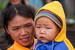 Miji Tribe Arunachal Pradesh (mijitribe) Tags: portrait india kid asia child ethnic miji arunachalpradesh parentwithchild westkameng sajolang chingdangfestival nachibon nafracircle