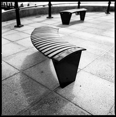 Lines and curves (John | Adrian | Orr | Photography) Tags: street white abstract black 120 6x6 film monochrome zeiss geometry hasselblad 60mm ilford lowestoft distagon 500cm ddx ilfotec shanghaigp3 epsonv500scan