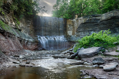 Indian Falls June 2016 (Explore) (ROHphotos.) Tags: indianriver indianfalls waterfalls slowwater niagaraescarpment brucetrail brucepenninsula owensound greycounty nature art landscape water natural red green explore inexplore abigfave wow randyohara