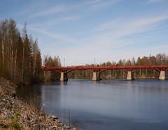 Lejonstrmsbron (danlunfoto) Tags: longexposure bridge nature water colors landscape spring sweden lejonstrmsbron