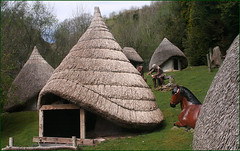 Iron Age Farm Replica (Canis Major) Tags: wales ancient huts replica reconstruction ironage danyrogof showcavescentre