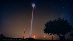 windrad langzeitbelichtet (Ronny Gbler) Tags: park wind nacht energie windrad strom baum sterne langzeitbelichtung windpark milchstrase
