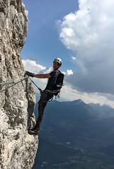 Via ferrata delle Aquile (pepe50) Tags: italy mountain funny italia hobby trento cai leisure alpinismo montagna viaferrata 2016 vuoto paganella pepe50 cimapaganella sentierodelleaquile viaferratadelleaquile