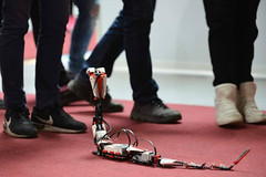 Cafe Neu Romance at Veletrh vdy 2016: LEGO MINDSTORMS R3PTAR robot (Vive Les Robots!) Tags: robot lego prague fair science czechrepublic mindstorms reptar 2016 legomindstorms vivelesrobots r3ptar cafeneuromance robotperformancefestival veletrhvdy