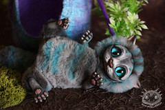 Cheshire cat (rioky_angel) Tags: cute monster cat creativity toys furry cheshire handmade ooak fluffy fantasy clay artdoll creature arttoy toymaker polimerclay riokycreatures