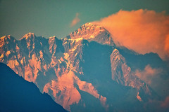 Sunset over Everest, Khumbu (Everest) Region, Himalayas, Nepal (CamelKW) Tags: nepal sunset himalaya khumbu everest 2016 everestregion everestpanoram