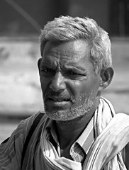 india (gerben more) Tags: portrait people india man monochrome blackwhite portret rajasthan stubbles handsomeman