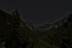 Starry Sky at Tunnel View, Yosemite National Park (Mastery of Maps) Tags: california park ca trees sky mountains green nature pine night forest stars outdoors nationalpark spring view natural valley yosemite vista nightsky yosemitenationalpark naturalbeauty elcapitan sierranevada iconic yosemitevalley tunnelview usnationalpark 2016 starrysky brideveilfalls