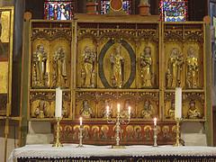 glise de Trondenes. Intrieur. Un des 3 triptyques. Harstadt. Norvge (fvib'r) Tags: church norway symmetry glise triptyque norvge symtrie trondenes