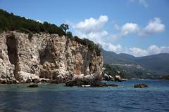 Island cliff (Vojinovic_Marko) Tags: travel sea nature water island nikon rocks greece ioniansea ionian syvota  grka  jonskomore d7200 nikond7200