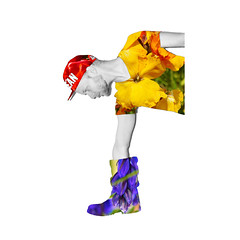 EXPERIMENTAL - Fashion vol. 2 (Davey-van-Lienden) Tags: red roses blackandwhite color green monochrome dutch fashion yellow horizontal shirt beard boot grey experimental purple doubleexposure thenetherlands experiment cap frame rotation bearded davey rotated dutchie