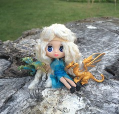 Mini-Blythe as Deneryes, Mother of dragons, from game of Thrones