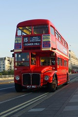 ER 882 (gooey_lewy) Tags: bridge light red sun bus london buses long er time events transport double line route master waterloo routemaster rise rt ensign decker rm 882 wlt ensignbus er882