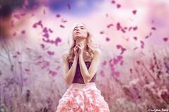 Send me an angel (gusdiaz) Tags: portrait photoshop photo manipulation composite composition digital art beautiful spring primavera retrato persona magical magico flowers hearts corazones flores bokeh