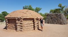 Replica of Navajo dwelling