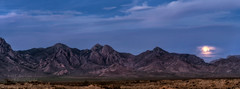 Organ Mountains (inlightful) Tags: sky moon mountains nature clouds evening twilight rocks earth hills moonrise bluemoon