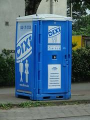 Cross everything (stevenbrandist) Tags: road travel blue hamburg toilet tardis crossedlegs travelogue