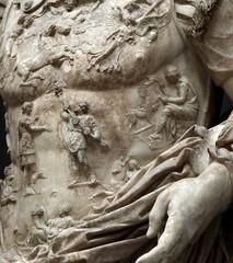 Ancient Rome. Marble portrait of Emperor Augustus (cuirass detail), Prima Porta Portrait (mike catalonian) Tags: portrait detail male fulllength marble emperor augustus cuirass ancientrome primaporta