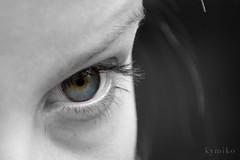 Eye color (kymiko.photographie) Tags: eye focus noir eyelashes plan oeil et blanc couleur gros visage pupille cils accro