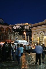 (Brian Aslak) Tags: night square europe hellas athens greece praa attica  monastiraki     vljak