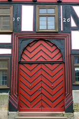 Doors Of Fritzlar No. 8 (TablinumCarlson) Tags: door leica wood red 6 rot germany deutschland one hessen timber architektur middle holz ages tr halftimbered dlux hesse fachwerk brd fachwerkhaus mittelalter timberframed fritzlar nordhessen schwalmederkreis 1526 schwalmeder